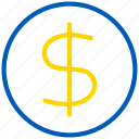 cash, coin, currency, dollar, ecommerce, finance, financial, money, payment, price icon