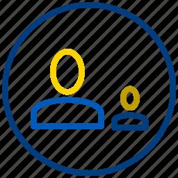 circle, control, management, parent icon