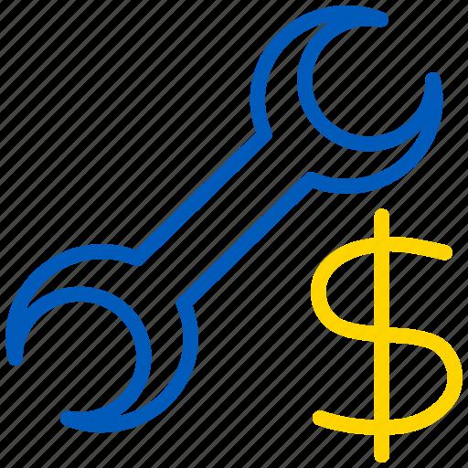 cost, money, repair, service icon