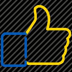 accept, good, ok, success, vote, vote up icon
