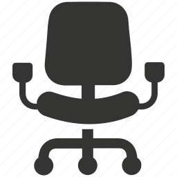 chair, computer chair, desk chair, office chair, revolving chair, swivel, swivel chair icon