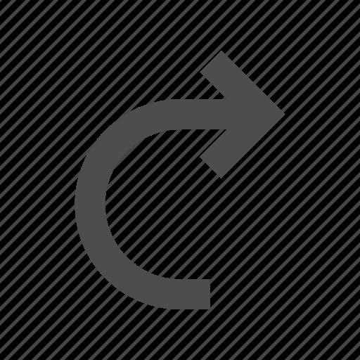 arrow, direction, redo, right, rotate icon