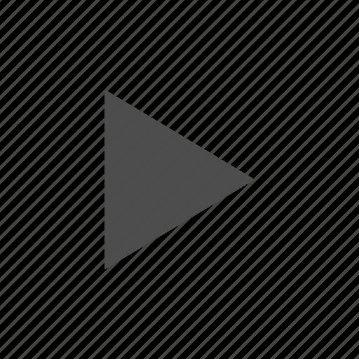 arrow, media, playback, start icon
