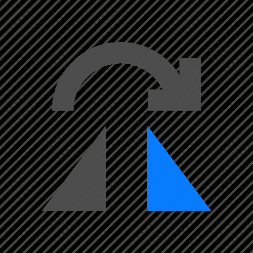 flip, horizontal, object, rotate icon