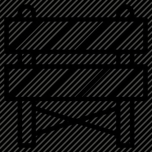 barriers, block, board, contruction, road icon