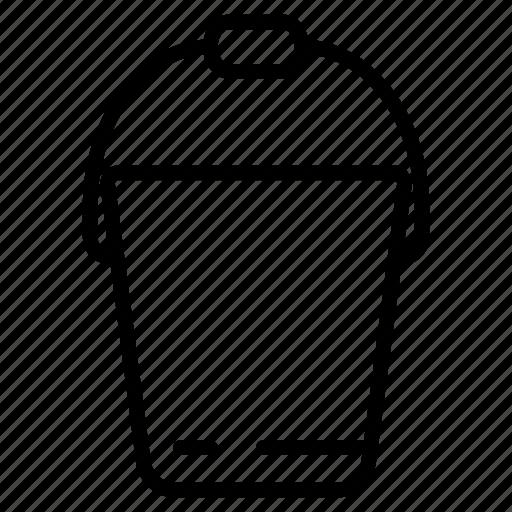 bucket, color, construction, decoration, paint icon