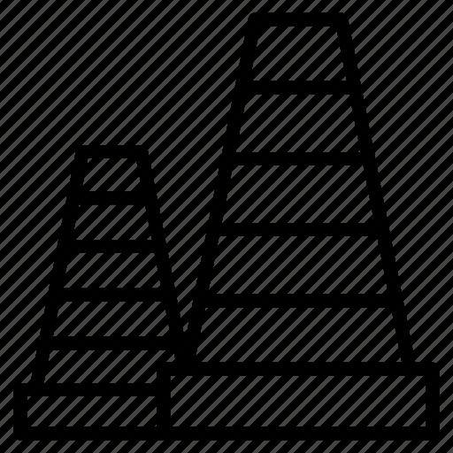 barrier, block, cone, construction, road icon