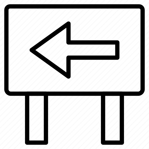 arrow, board, direction, left, pointer icon