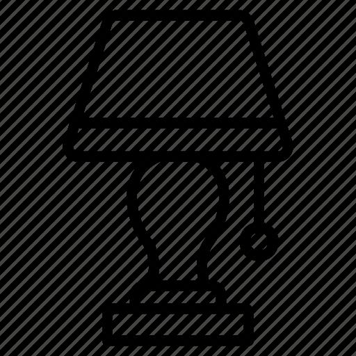 bright, bulb, lamp, light, table icon