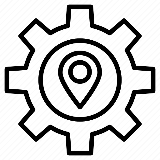 configure, gps, location, map, setting icon