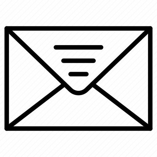 email, envelope, invitation, letter, message icon