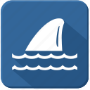 fin, sea, shark, underwater icon