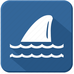 fin, sea, shark, underwater icon