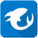 fish, sea, shark, underwater icon