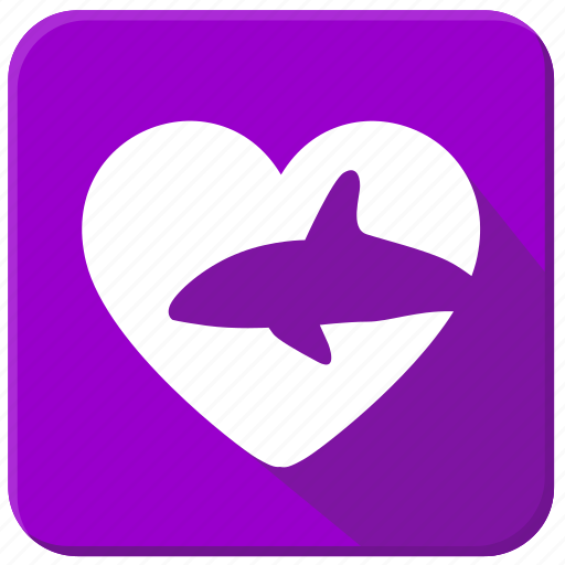 love, ocean, sea, shark, underwater icon