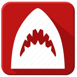 horror, sea, shark, underwater, world icon