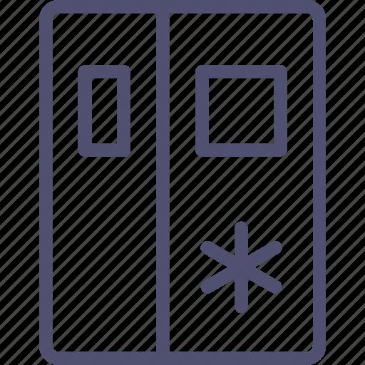 fridge, icebox, kitchen, refrigerator, sidebyside icon