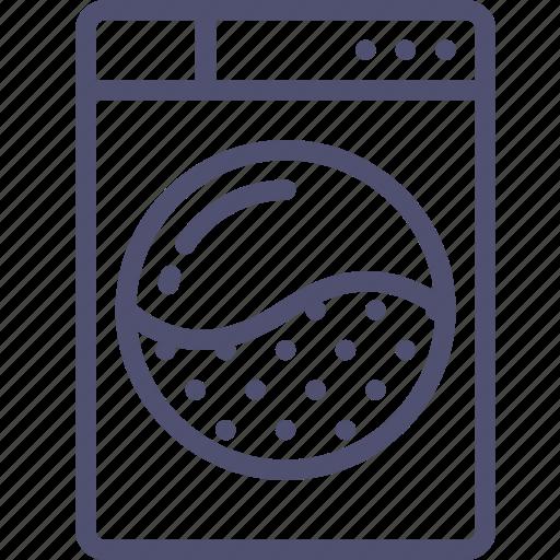 front, machine, washer, washing icon