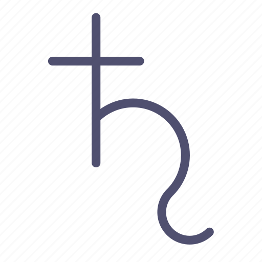 Astrology, planet, saturn, sign icon