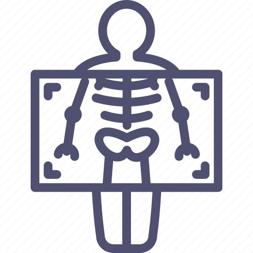 chest, fluorography, medicine, ray, ribs, roentgen, x, xray icon