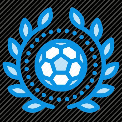 achievement, award, badge, football, sport, wreath icon