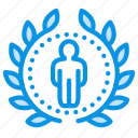 achievement, award, badge, profile, rank, top, wreath icon