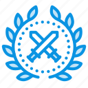 achievement, award, badge, soldier, war, warrior, wreath icon