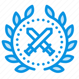 \, award, battle, war, warrior, wreath icon
