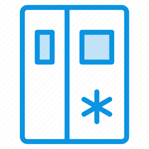 fridge, icebox, kitchen, refrigerator, sidebyside icon
