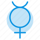 astrology, mercury, sign icon