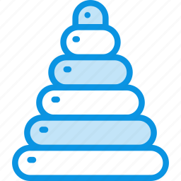 baby, pyramid, toy icon