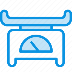baby, scales, weight icon