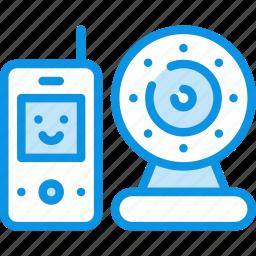 baby, camera, infrared, monitor, radio icon