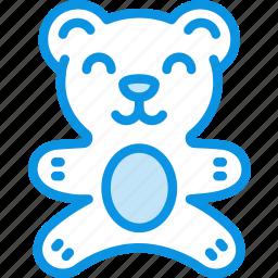 baby, bear, teddy, toy icon