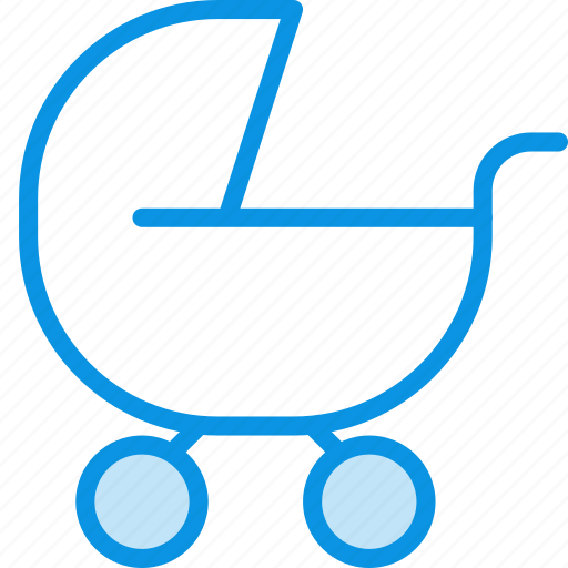 buggy, carriage, pram icon