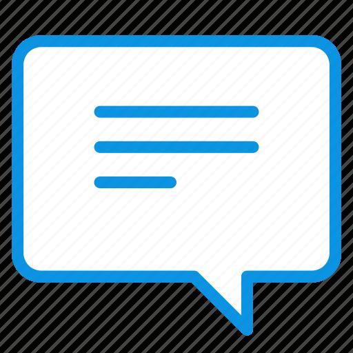 bubble, message, talk icon