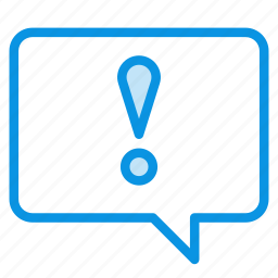 alert, bubble, chat, comment, message, talk, warning icon