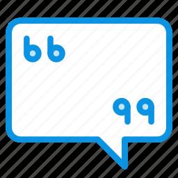 bubble, chat, comment, message, quote, talk icon