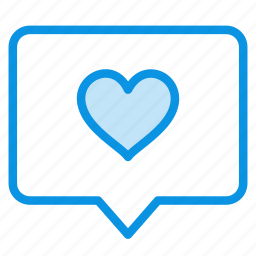 bubble, chat, comment, favorite, heart, love, message icon
