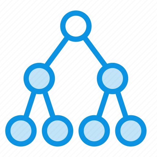 child, hierarchy, network, parent, root, share, social, tree icon