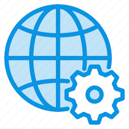 connection, earth, globe, internet, network, preferences, web icon