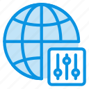 globe, internet, network, options, settings, web icon