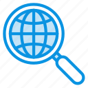 globe, internet, search icon