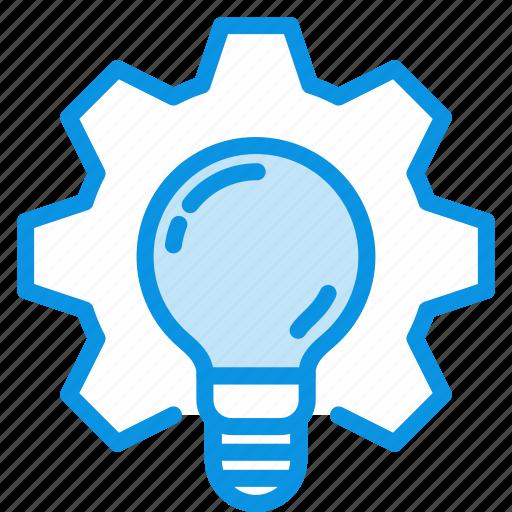 development, idea, process, production, work icon