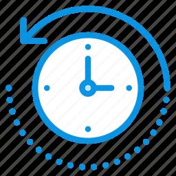 backup, backward, machine, restore, time icon