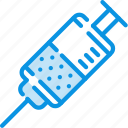 drug, injection, injector, medicine, prick, syringe icon