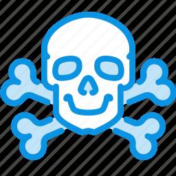 bones, danger, death, high, poison, skull, voltage icon