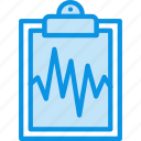 analysis, cardiogram, medicine, result, tablet icon