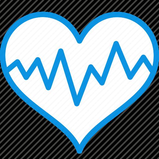 cardiogram, heart, medicine, pulse icon
