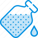 bottle, drop, flask, open icon